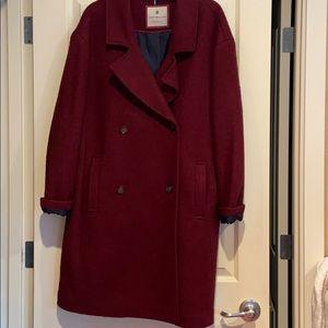 Tommy Hilfiger burgundy wool coat